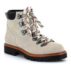 SEVEN7 Runyon Urban Hiker Ankle Boots Taupe Jeans